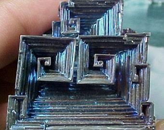 Rainbow Geometric Bismuth Crystal Mineral Specimen Excellent for Instilling Group Cohesiveness 011