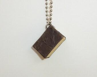 Handmade Mini Journal Necklace