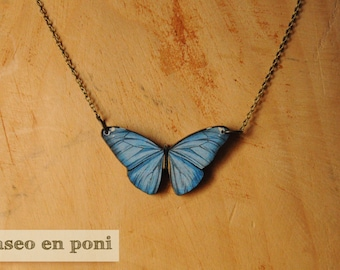 "Butterfly necklace ""Indigo"""