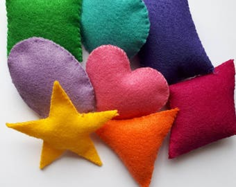 Colourful Shapes, baby, toddler, toy, learning, colours, Shapes, kids, educational, felt art, handmade felt toy, felt shapes