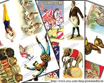 Vintage Circus  Printable Digital Download
