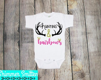 Hunting & Hairbows One Piece/Toddler Tee