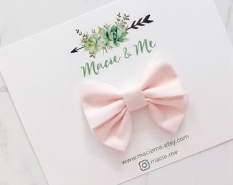 Light Pink Mini Sailor Bow / Macie and Me