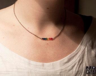 Swarovski Rainbow Pride necklace