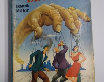 Blue City by Kenneth Millar Dell Mapback #363 1947 Vintage Mystery Paperback Book