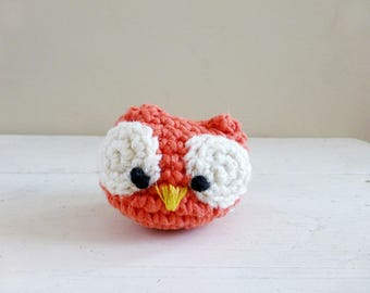 Owl stuffed animal, stuffed animal owl, amigurumi owl, owl doll, ready to ship, hand crochet,plush owl doll, desk sitter, cute crochet owl