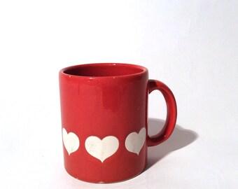 Vintage Waechtersbach Red Heart Mug/Collectible