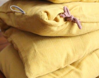Cover quilt + pillow case / / organic cotton Swaddle