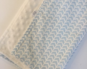 Baby Boy Minky Blanket - Bassinet/Pram Size - Baby Shower gift