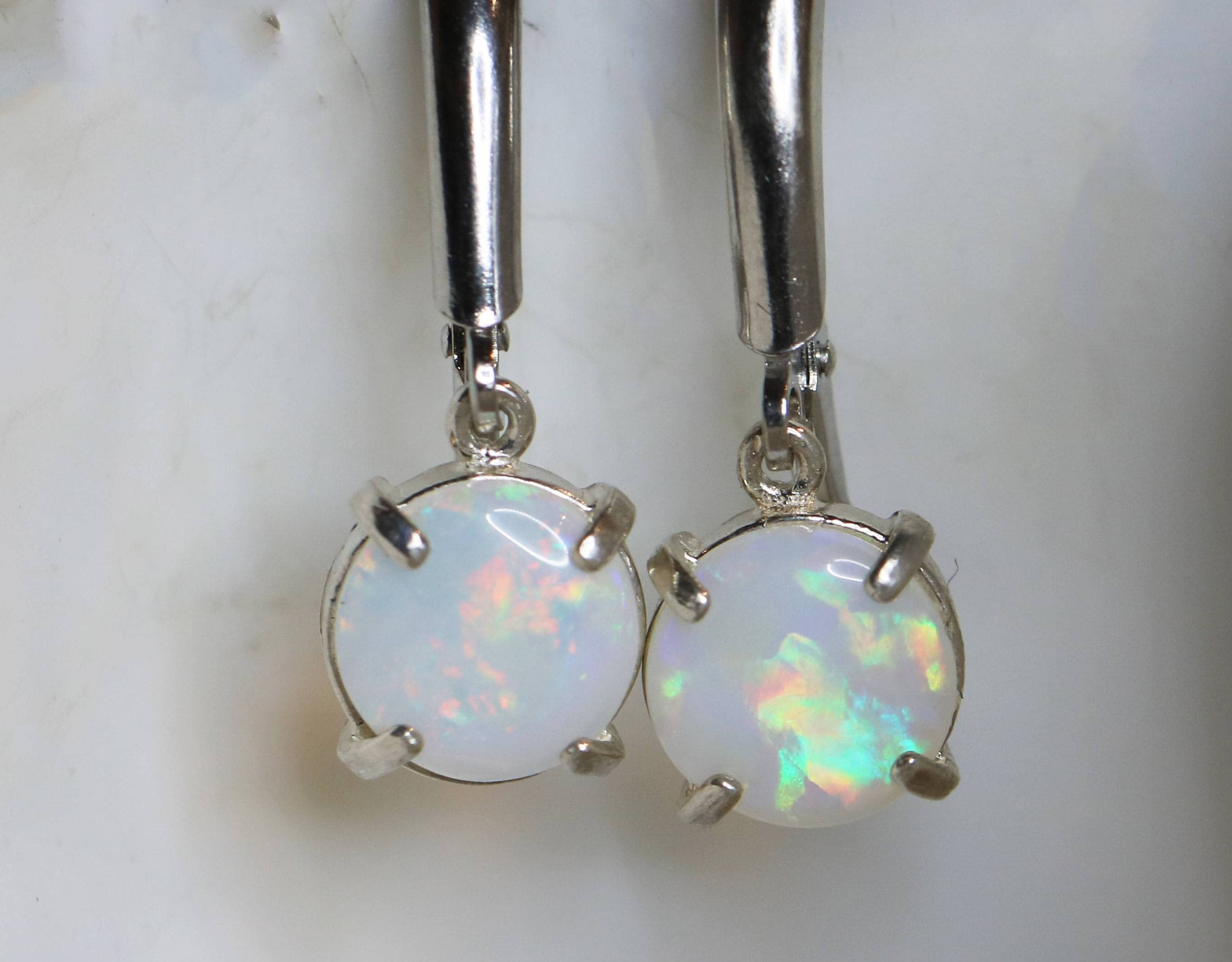 il genuine silver leverback fire base natural multicolored opal jewelry teiz fullxfull listing white earrings