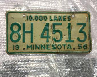 1956 Minnesota License Plate