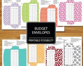 Cash Envelopes Set of 8  - Patterned Rainbow Set - Budget Envelopes - Fun Funky Budgeting Envelopes - Spending Budgeting Envelope System