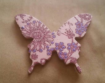 Wooden Butterfly Needle Minder Magnetic Needle Holder