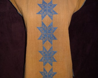 Handmade Embroidered Light Brown Womens Tunic