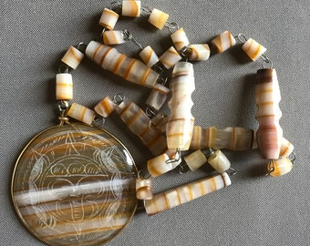 Vintage Mexican stone necklace