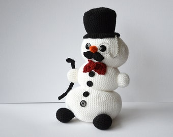 Sir Snowman Crochet Pattern, Snowman Amigurumi Pattern, Winter Snowman Crochet Pattern, Christmas Snowman, Christmas Crochet Pattern