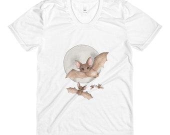 Batty For Bats! women's crew neck t-shirt