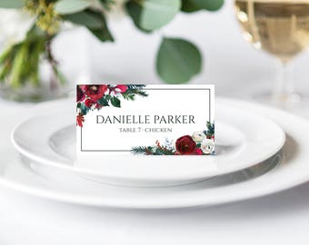 Place Cards Template Printable Name Cards Escort Cards