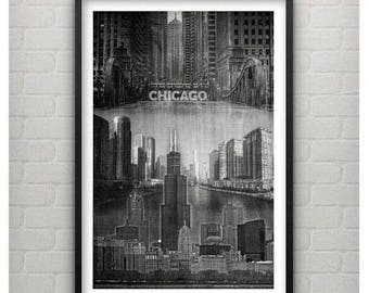 Framed Willis Tower of Chi Town...