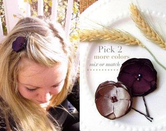 5 piece fall bridesmaid hair accessories small silk cut petal pick 2 small silk flower hair pins fall wedding hair flower hairpiece satin flower hair mightylinksfo