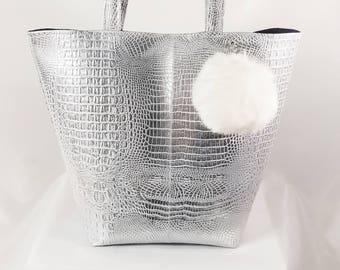 Reptilian overtone tote bag, Beach Bag, Boho Bag, Resort Tote, Hobo Tote, Casual Bag, Purse, shoulder bag, tote