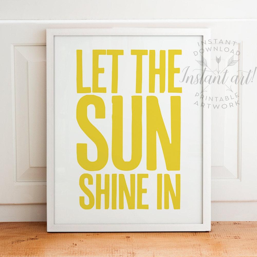 Let the sunshine in PRINTABLE artnursery printable