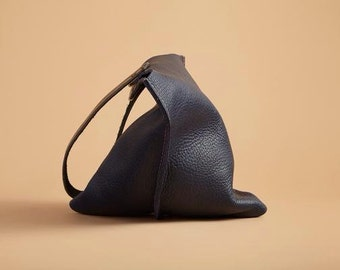 13in Wedge - Indigo blue leather