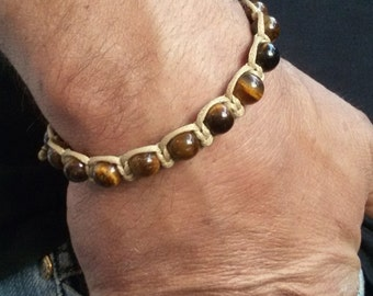 Shamballa men bracelet, Tiger eye bracelet, makrame bracelet, energy bracelet, gift for man, tiger eye men bracelet, tiger eye men jewelry
