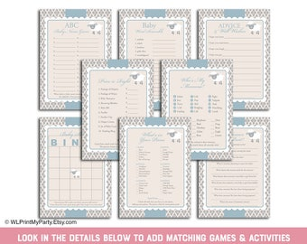 Printable Baby Shower Games Boy Whale Baby Shower Activity