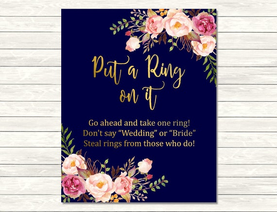 This is an image of Priceless Put a Ring on It Bridal Shower Game Free Printable