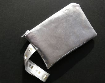 All silver pouch
