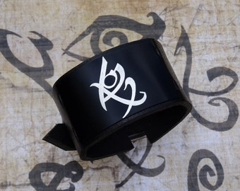 Fearless Rune  , The Mortal Instruments , Shadowhunters , City of Bones , leather bracelet wristband armband cuff,