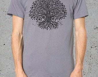 Boyfriend Gift, Mens TREE Of LIFE Shirt, Tree T,shirt Tee, Bohemian Clothing, Mens Graphic Tee For Him, Mens Shirts,, Boyfriend Gifts, Gifts