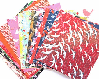 Scrap Pack - Japanese rice and origami paper ephemera, paper scraps