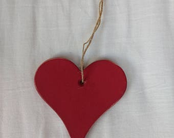 Handmade Wooden Heart x3