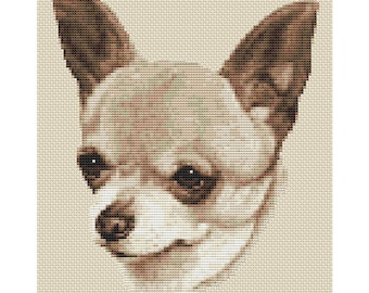 Chihuahua Dog in Sepia Cross Stitch Design by Elite Designs