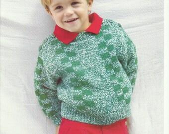 Boys Sweater Knitting Pattern.