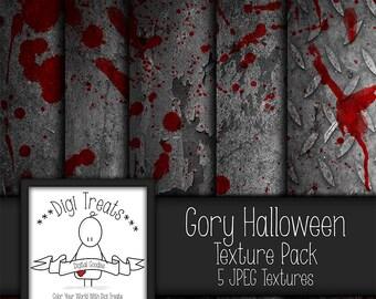 """5 Digital Textures, Gory Halloween Textures, JPEG, Photography Textures, Scrapbook Paper, Backgrounds, 12""""x12"""" *Instant Download*"""