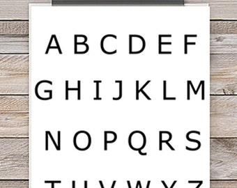 Alphabet Poster - Printable Poster - Homeschool Poster - School Poster - Wall Decor - Learning Poster - Hand Writing - Digital Poster