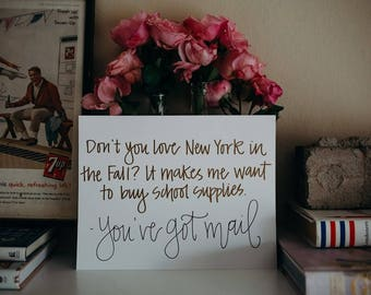 New York in the Fall Print