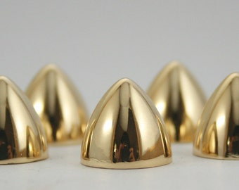 10 sets.Gold Conical Spikes Screw back Cone Studs Leather Craft Decorations Findings 13x12 mm. BS G 0754 SCB 107