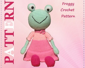 ENGLISH Instructions ONLY - Instant Download PDF Crochet Pattern Froggy