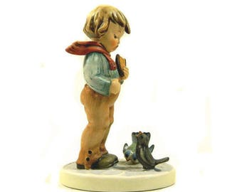 Hummel Figurine Bird Watcher #300 Goebel West Germany TMK 6 Signed '88