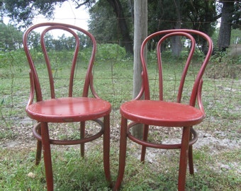 Vintage Chairs, Furniture, Wood Chair, Bent Wood Chair, Dinning Chair, Ice Cream Parlor Chairs