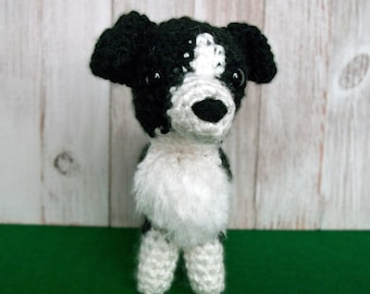 Crochet Border Collie Dog, Amigurumi Border Collie