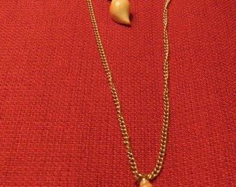 Vintage Avon Shell Necklace and Earrings