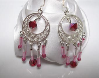 Earrings small pink whims