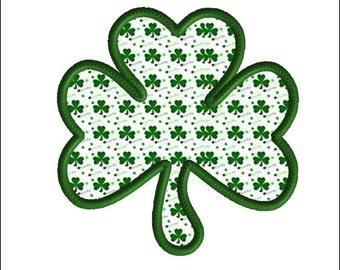 Shamrock embroidery design, 3 size applique, machine embroidery, St. Patrick's Day Embroidery Design