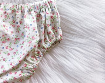 Baby Bloomers / Toddler Bloomers / Diaper Cover / Vintage Flower Fabric