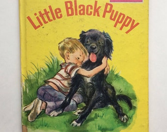 Collectible Little Black Puppy by Charlotte Zolotow, Illus Lilian Obligado ~ A Golden Read-It-Yourself Book ~ 1960s Children's Picture Book